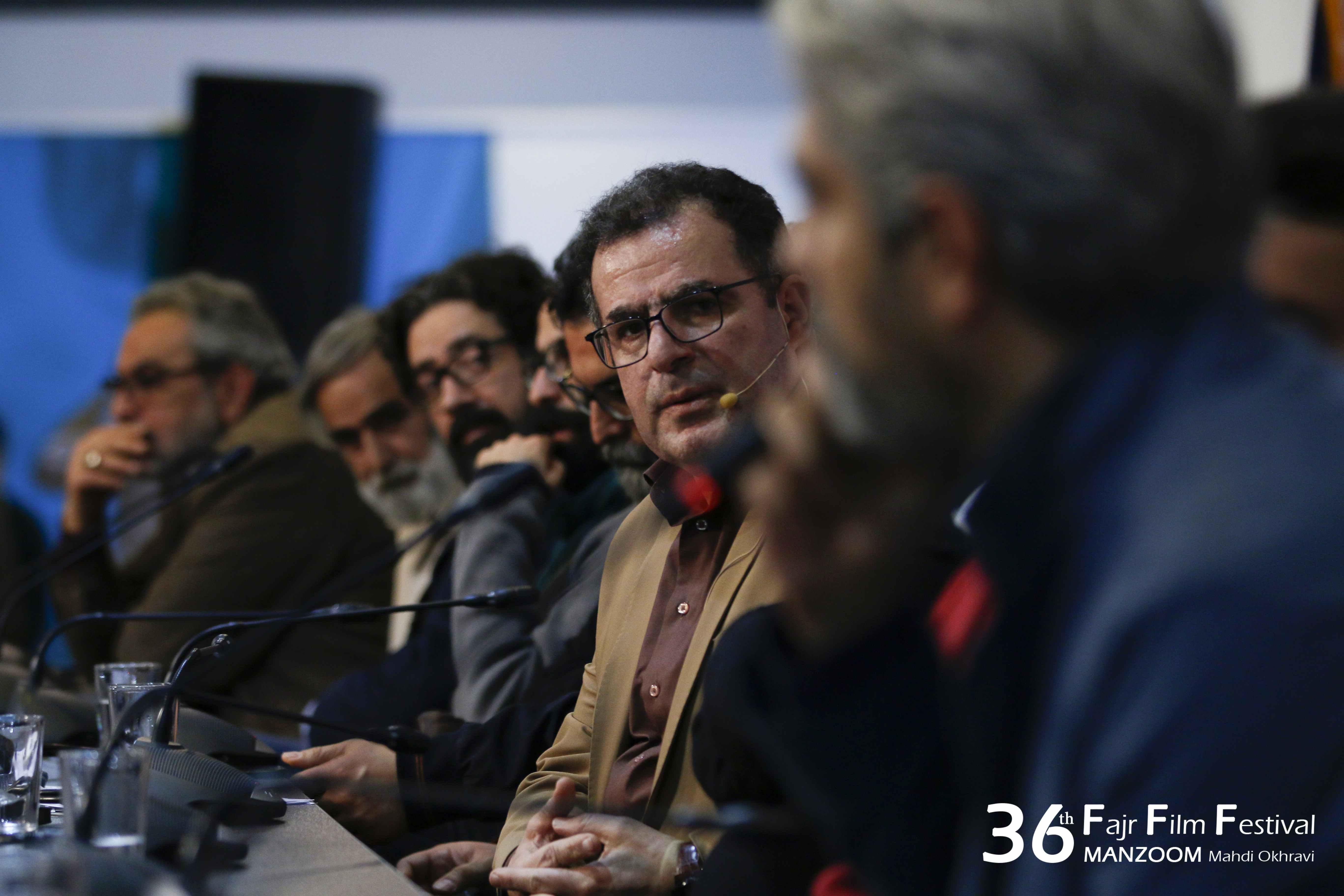 محسن روزبهانی در نشست خبری فیلم سینمایی تنگه ابوقریب به همراه حامد ثابت و محمود گبرلو