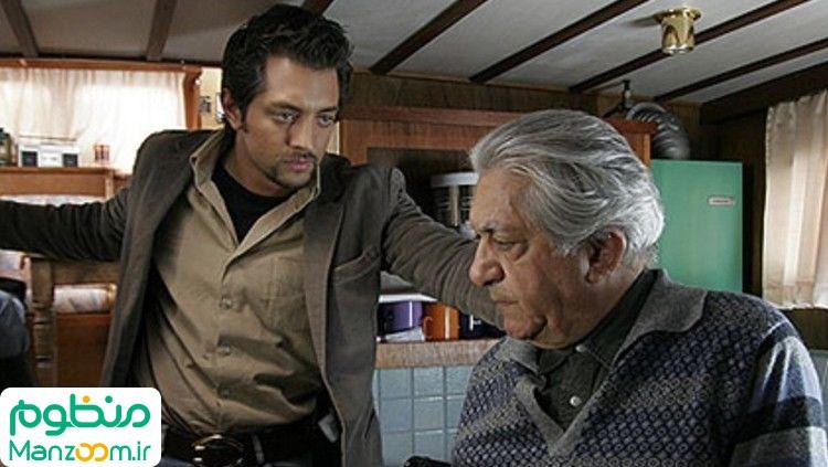 عزتالله انتظامی در صحنه فیلم سینمایی زادبوم به همراه بهرام رادان