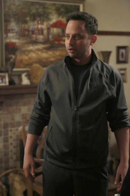 Nick Kroll در صحنه سریال تلویزیونی دختر جدید