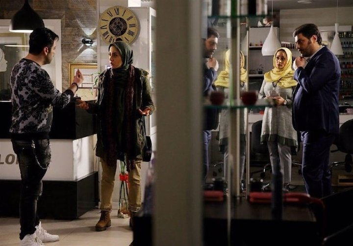 سام درخشانی و بهاره کیان افشار در فیلم سینمایی دشمن زن