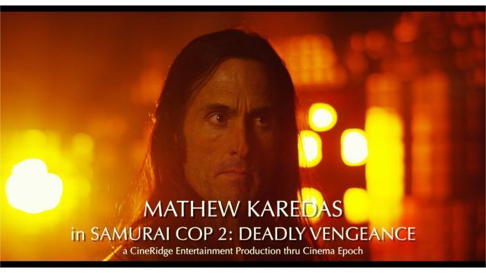 Mathew Karedas در صحنه فیلم سینمایی Samurai Cop 2: Deadly Vengeance