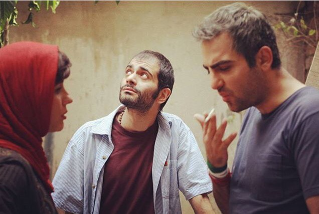 سارا بهرامی و حامد کمیلی در پشت صحنه فیلم ایتالیا ایتالیا