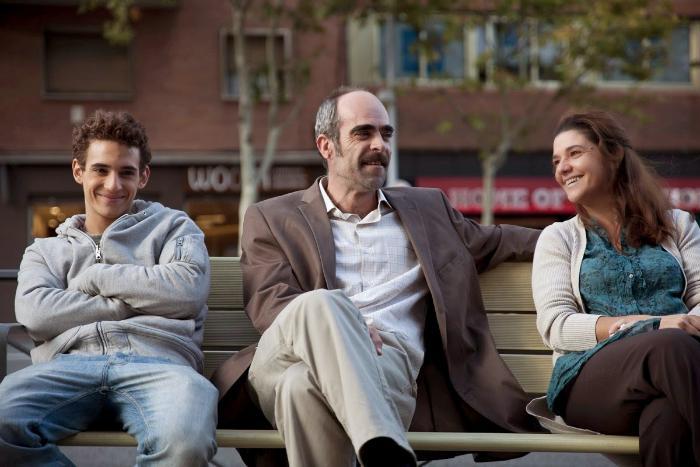 María Miguel در صحنه فیلم سینمایی A cambio de nada به همراه Miguel Herrán و Luis Tosar