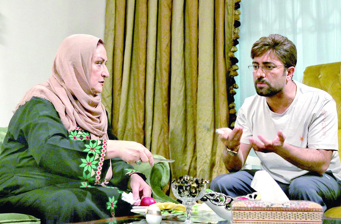 مریم امیرجلالی در صحنه فیلم سینمایی دختر عمو پسر عمو به همراه مجید صالحی