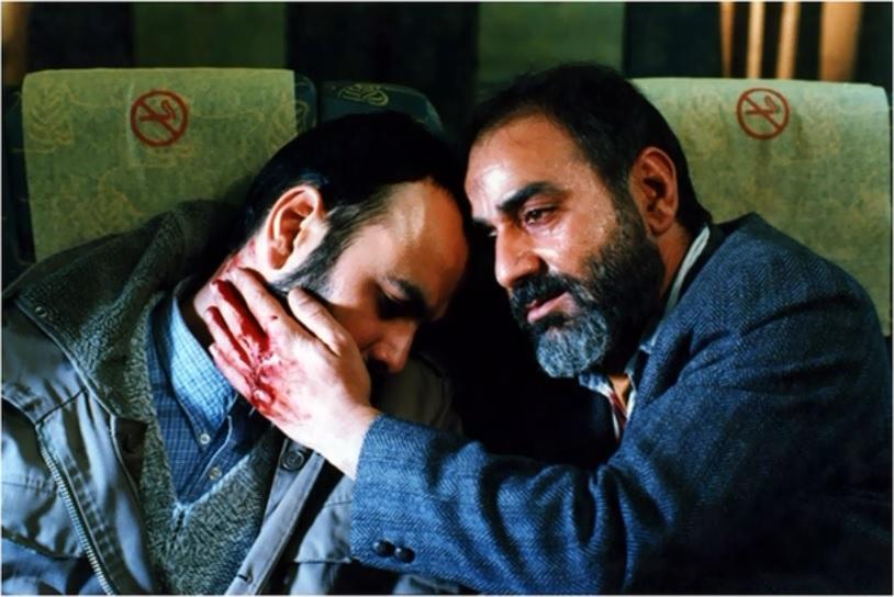 پرویز پرستویی و حبیب رضایی در فیلم آژانس شیشهای