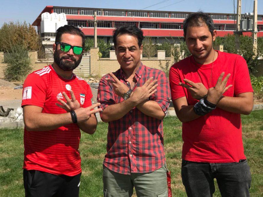 تصویری شخصی از رامین راستاد، بازیگر و طراح گریم سینما و تلویزیون به همراه سیدرضا آلاحمدی