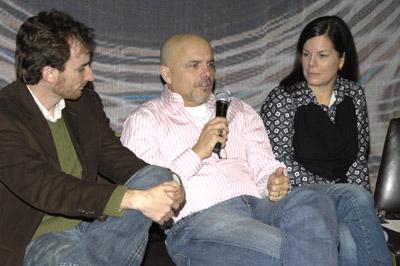 Joseph Greco در صحنه فیلم سینمایی Canvas به همراه Joe Pantoliano و مارسیا گی هاردن