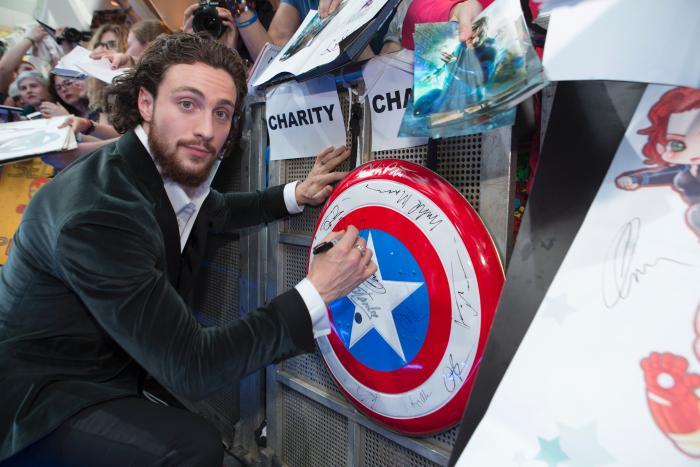 آرون تیلور جانسون در صحنه فیلم سینمایی Avengers: Age of Ultron
