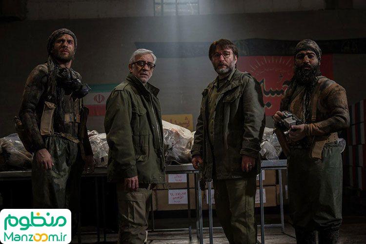 رضا بهبودی در صحنه فیلم سینمایی سرو زیر آب به همراه مسعود رایگان و بابک حمیدیان