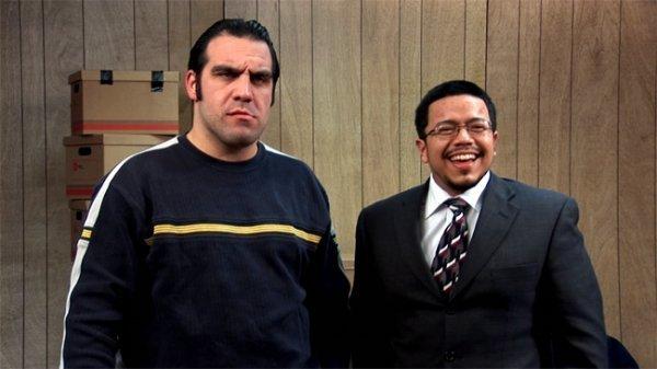 Omar Portilla در صحنه فیلم سینمایی Bazookas: The Movie به همراه Joseph Campellone