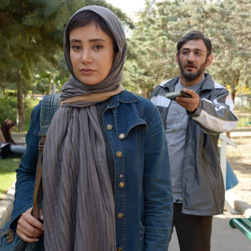بهاره افشاری در صحنه فیلم سینمایی زندانی ها به همراه هدایت هاشمی