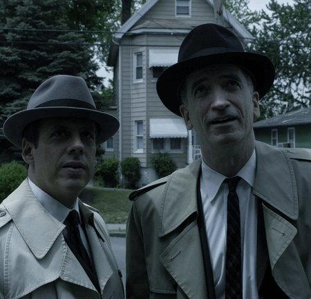 Christopher McCann در صحنه فیلم سینمایی Neal Cassady به همراه Josh Pais