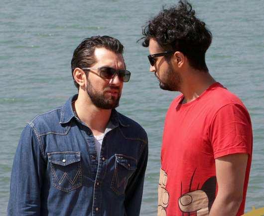 بهرام رادان و مهرداد صدیقیان در فیلم زرد
