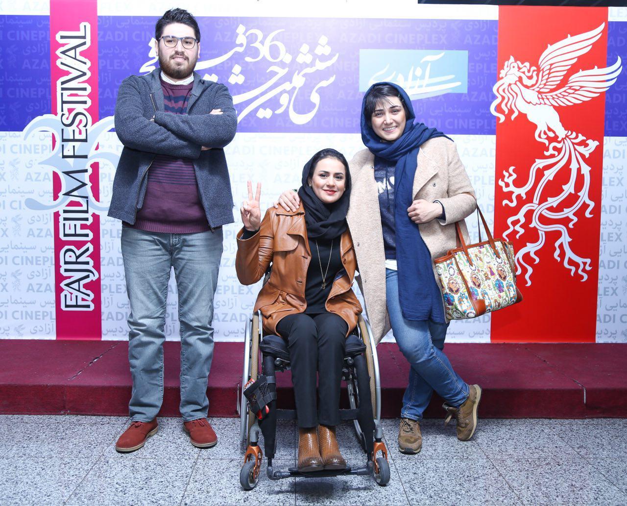 سهیل بیرقی در اکران افتتاحیه فیلم سینمایی عرق سرد به همراه باران کوثری