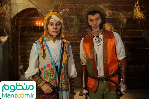 ترلان پروانه و ارسلان قاسمی  در فیلم سینمایی آهوی پیشونی سفید 2