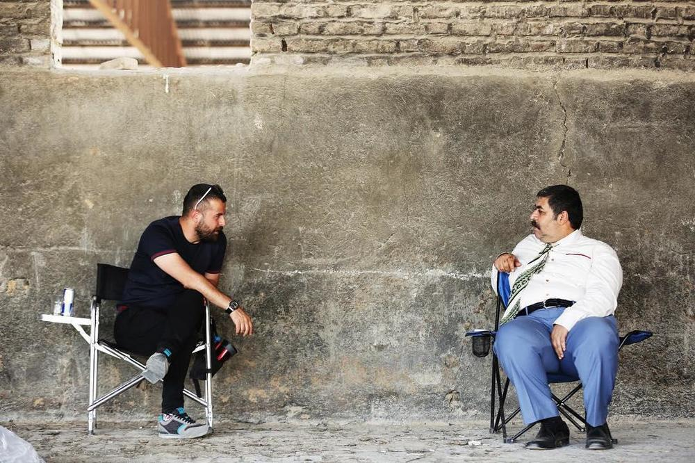 هومن سیدی و فرهاد اصلانی در فیلم سینمایی مغزهای کوچک زنگ زده