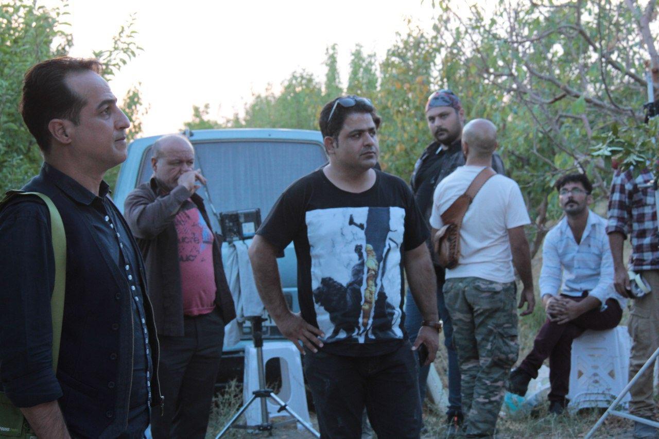 رامین راستاد در پشت صحنه سریال تلویزیونی مس به همراه رامین الماسی