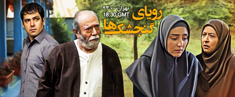 مهسا کرامتی در پوستر سریال تلویزیونی رویای گنجشکها به همراه علی نصیریان، کوروش تهامی و آزیتا حاجیان