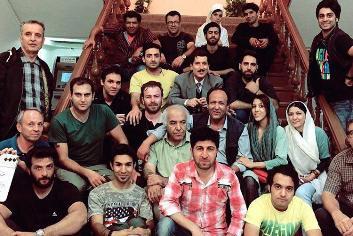 مرتضی پورصمدی در پشت صحنه فیلم سینمایی آشوب به همراه رامین ناصرنصیر