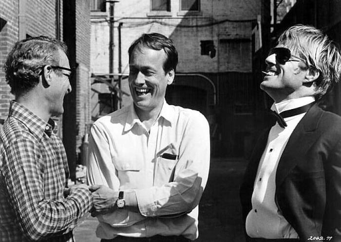 جرج روی هیل در صحنه فیلم سینمایی نیش به همراه پل نیومن و رابرت ردفورد
