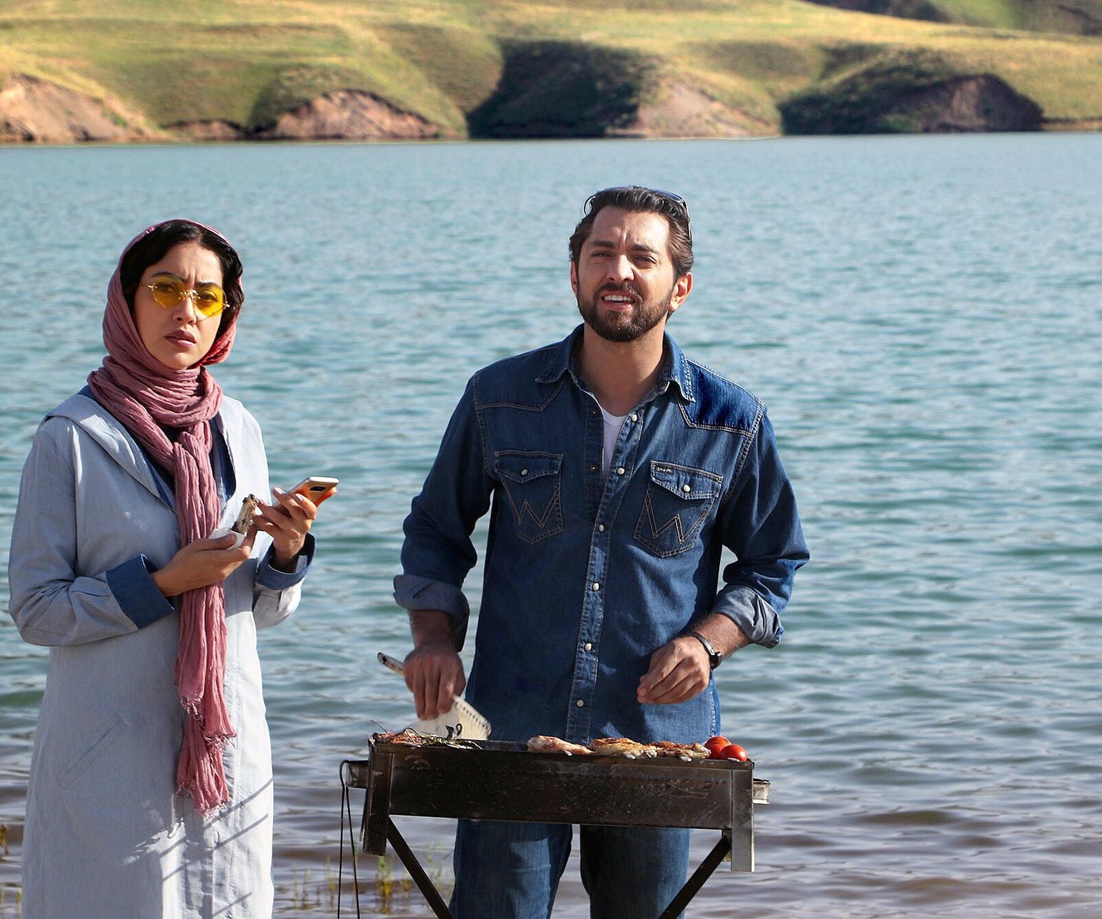 بهرام رادان و بهاره کیانافشار در فیلم زرد