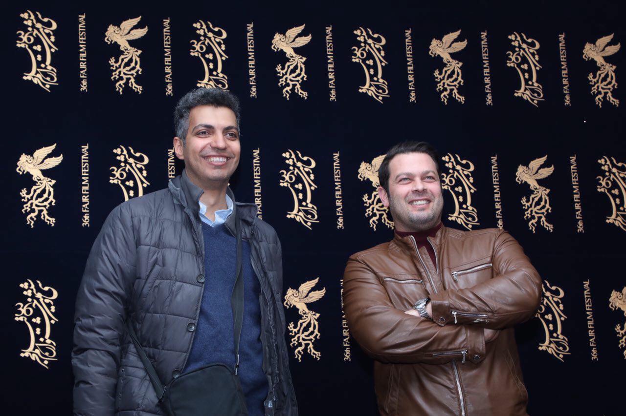 عادل فردوسی پور در جشنواره فیلم سینمایی هایلایت به همراه پژمان بازغی