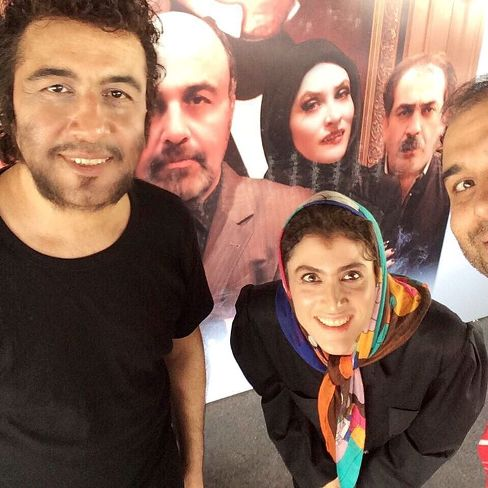 رضا عطاران و ویشکا آسایش در پشت صحنه  فیلم نهنگ عنبر 2