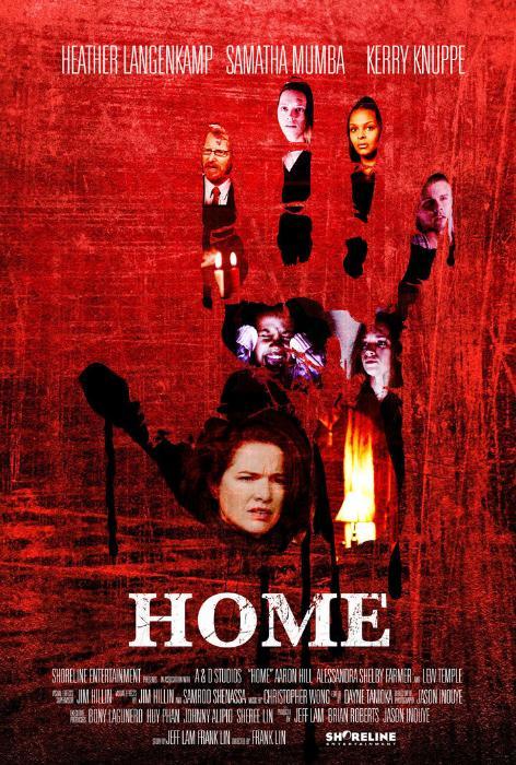 Kerry Knuppe در صحنه فیلم سینمایی Home به همراه Lew Temple، Alessandra Shelby Farmer، Alison Dahlstrom، Heather Langenkamp، Samantha Mumba، Aaron Hill، Lou Glenn، Frank Lin و Jeff Lam