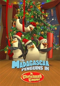Tom McGrath در صحنه فیلم سینمایی The Madagascar Penguins in a Christmas Caper به همراه Chris Miller