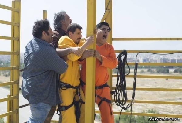 جواد رضویان و رضا شفیعی جم در فیلم سینمایی دم سرخها