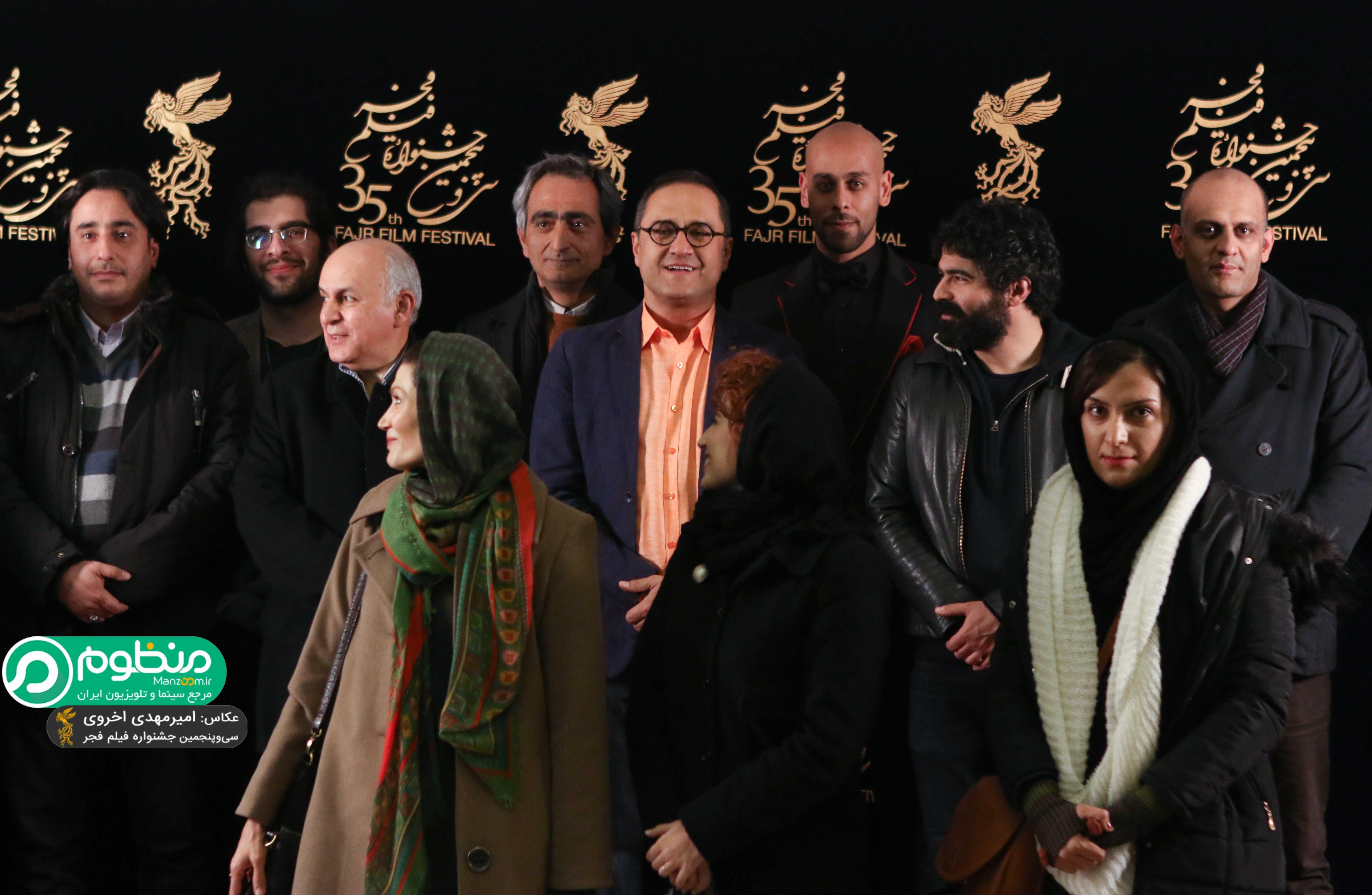 بهرام بدخشانی در اکران افتتاحیه فیلم سینمایی نگار به همراه رامبد جوان