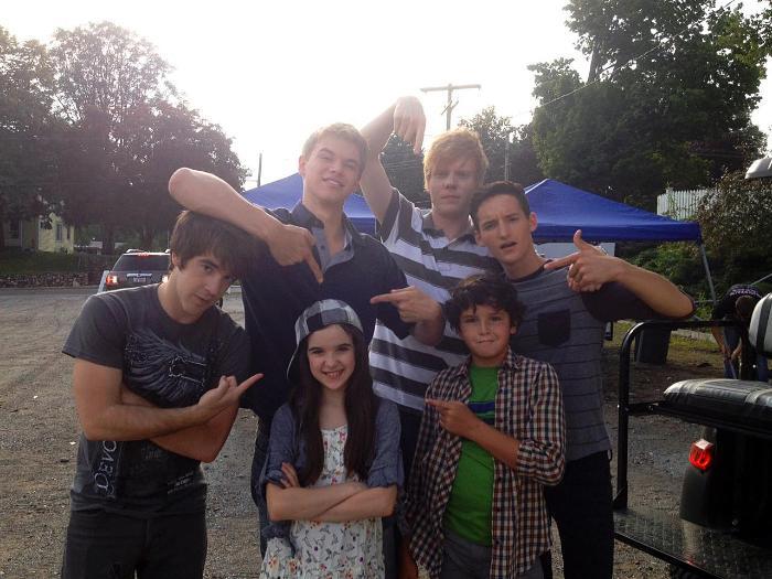 Adam Hicks در صحنه فیلم سینمایی Little Savages به همراه Aubrey K. Miller، Noah Lomax، Kenton Duty و Austin Mincks