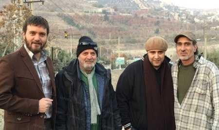 امیر معقولی در پشت صحنه سریال تلویزیونی میکائیل به همراه سعید نعمتالله، کامبیز دیرباز و سیروس مقدم
