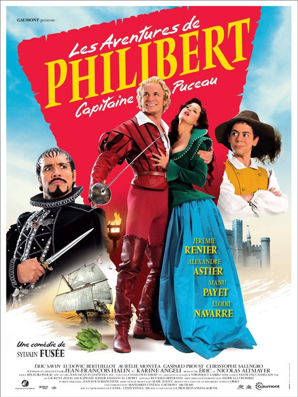 Manu Payet در صحنه فیلم سینمایی Les aventures de Philibert, capitaine puceau به همراه Alexandre Astier، Jérémie Renier و Élodie Navarre