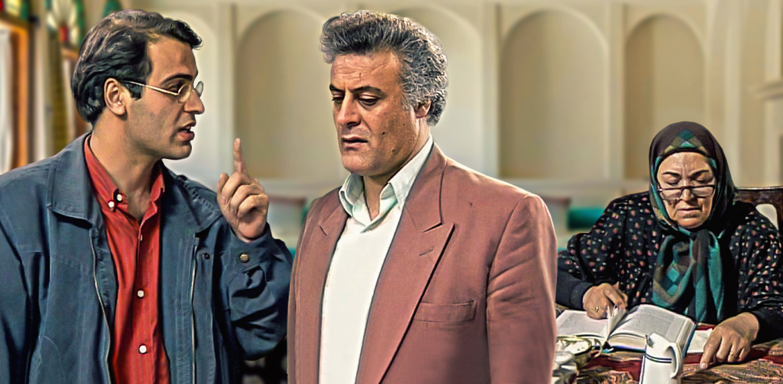 پروین دخت یزدانیان در صحنه سریال تلویزیونی سر نخ به همراه جهانبخش سلطانی و بهزاد خداویسی