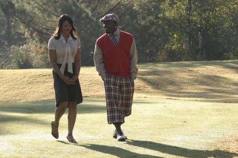 Tamala Jones در صحنه فیلم سینمایی Who's Your Caddy? به همراه Big Boi