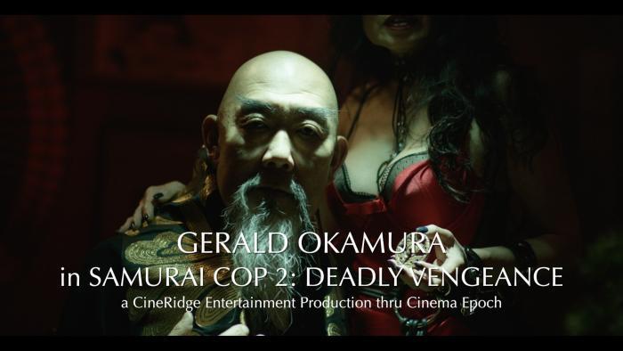 Gerald Okamura در صحنه فیلم سینمایی Samurai Cop 2: Deadly Vengeance
