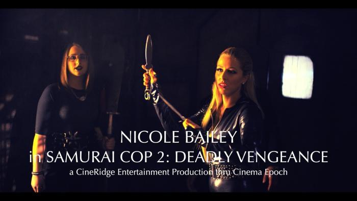 Zoey Monroe در صحنه فیلم سینمایی Samurai Cop 2: Deadly Vengeance