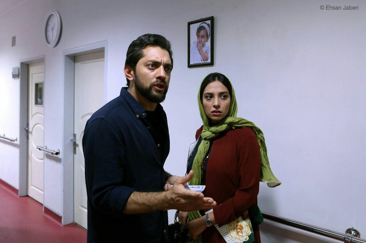 بهرام رادان و آناهیتا درگاهی در فیلم زرد