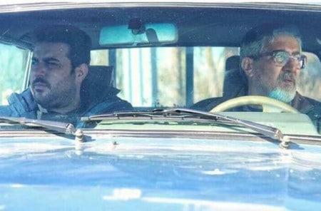 شاهرخ فروتنیان در صحنه فیلم سینمایی ایستگاه اتمسفر به همراه محسن کیایی