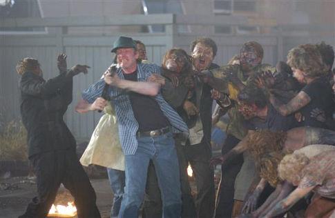Boyd Banks در صحنه فیلم سینمایی طلوع مردگان