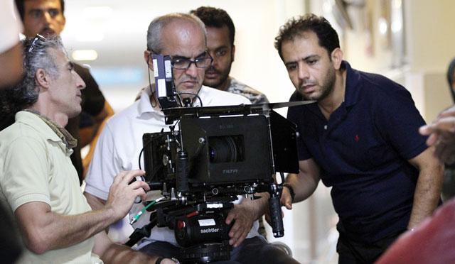 احسان عبدی پور در پشت صحنه فیلم تیک آف
