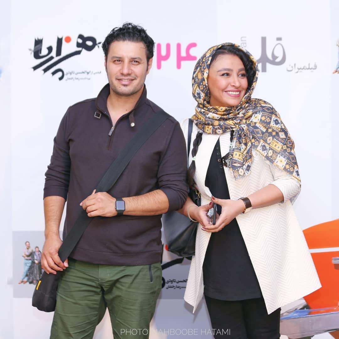 مهلقا باقری در صحنه فیلم سینمایی هزارپا به همراه جواد عزتی