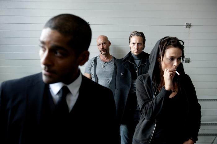 Torkel Petersson در صحنه فیلم سینمایی The Master Plan به همراه Simon J. Berger و Alexander Karim