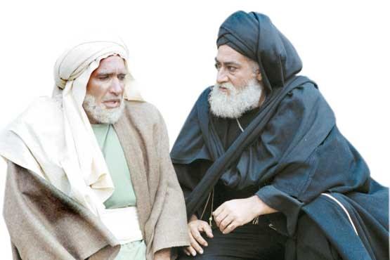 نعمتالله گرجی در صحنه سریال تلویزیونی امام علی (ع) به همراه داریوش ارجمند