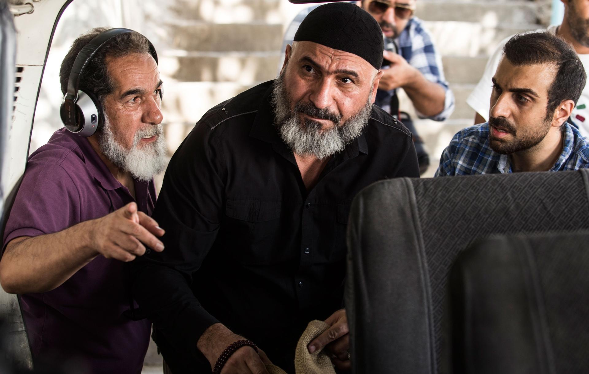 سعید سهیلی و حمید فرخ نژاد در پشت صحنه فیلم گشت ارشاد 2