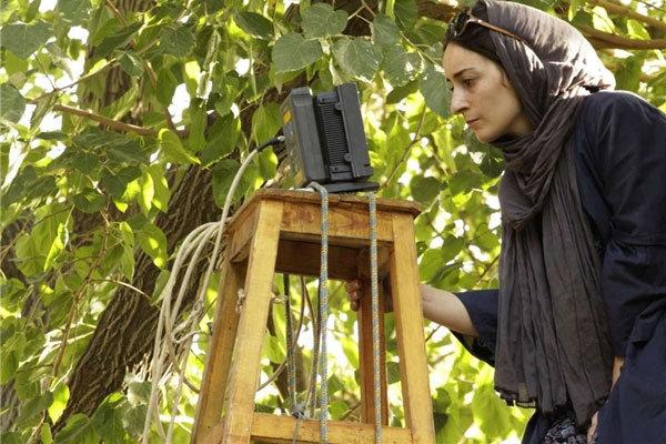 سهیلا گلستانی در پشت صحنه فیلم سینمایی دو