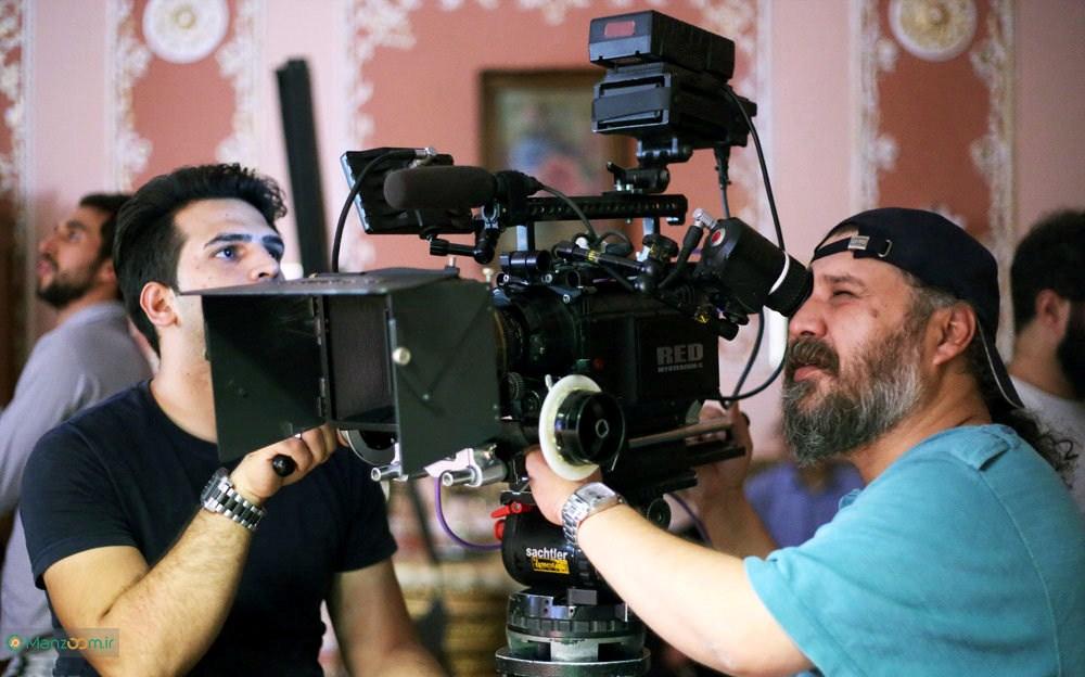 افشین احمدی در پشت صحنه سریال تلویزیونی شهرزاد 1