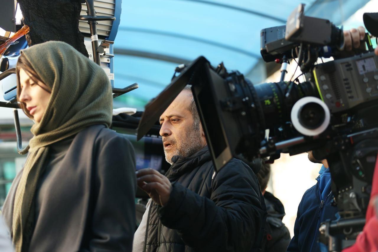 لیلا حاتمی در پشت صحنه فیلم رگ خواب
