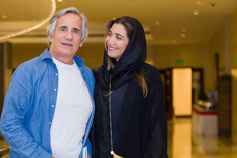 مجید مظفری در جشنواره فیلم سینمایی چهارراه استانبول به همراه نیکی مظفری